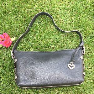 Brighton Black Pebbled Leather Shoulder Bag
